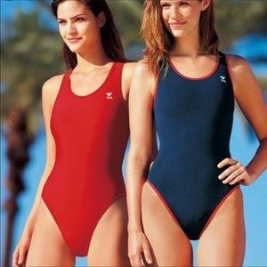 THR Navy Blue Swim Suit One Piece Sporty Suit